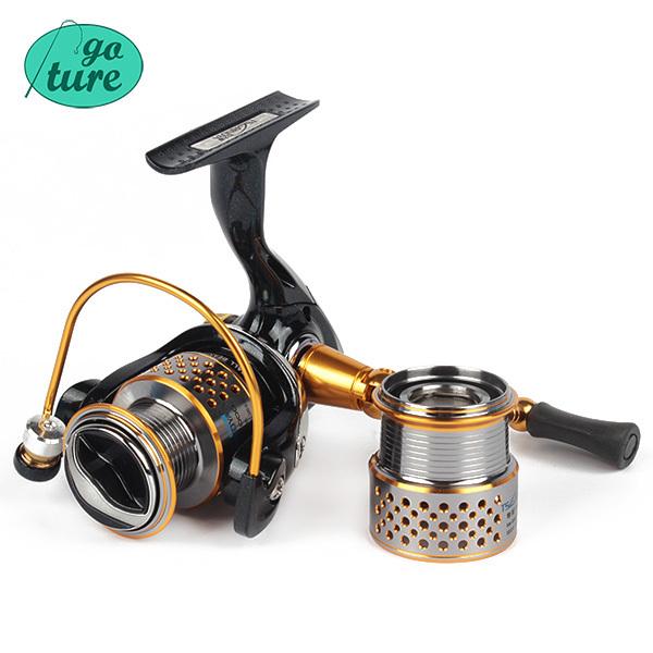 Trulinoya 12 BB Fishing Reels Saltwater All Metal Spinning Reel Two Spool 1000 2000 Series 5.2:1 Fish Carretilha(China (Mainland))