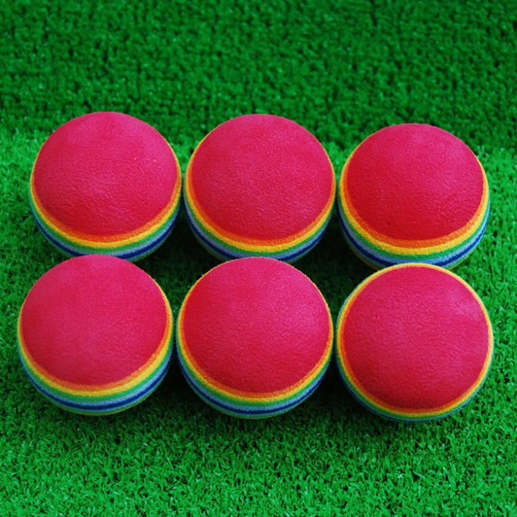 15x Rainbow Stripe FOAM Sponge Golf Balls Swing Practice Training Aids Ball(China (Mainland))