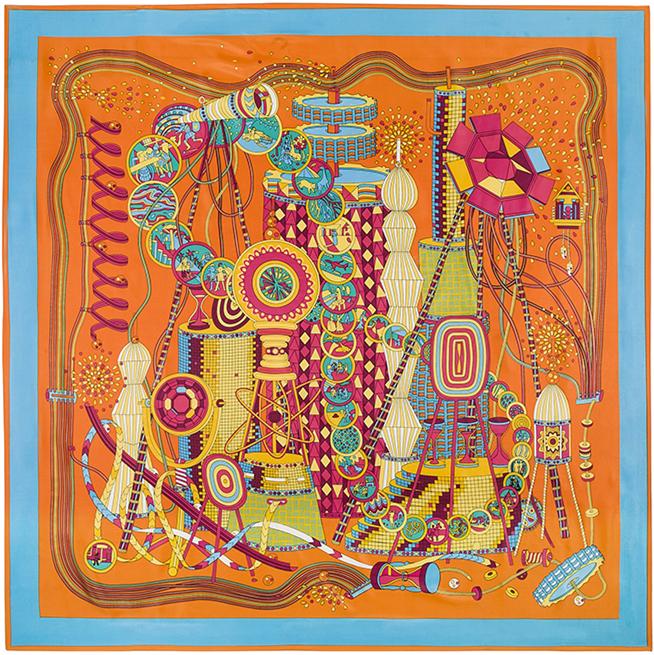 130cm*130cm 100% Silk Euro Brand Style Women Colorful Wonderful World Pattern Printed Silk Square Scarf Fairy tale Shawls(China (Mainland))
