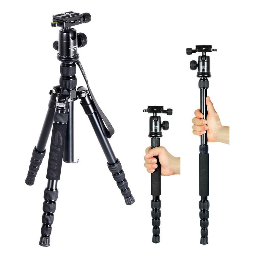 DHL wholesale gopro Sinno M-2522z professional camera tripod head monopod SLR Portable micro single tripod folding only 33cm(China (Mainland))
