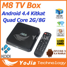 [Genuine]M8 Amlogic S802 Android TV Box M8N Quad Core 2G/8G Mali450 KODI GPU 4K HDMI 2.4G/5G Dual WiFi Pre-installed APK ADD ONS(China (Mainland))