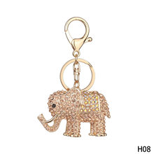 لطيف جرو الكلب الألماني الفيل المفاتيح سبائك حجر الراين سلسلة المفاتيح مفتاح حامل لسيدة الفتيات حقيبة قلادة(China)