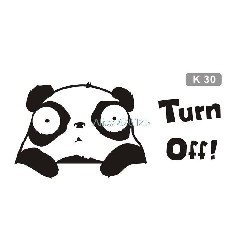 Computer Toilet Kids Room Office 2015 new goods wall stickers big eyes panda design custom window decoration of top fashion(China (Mainland))