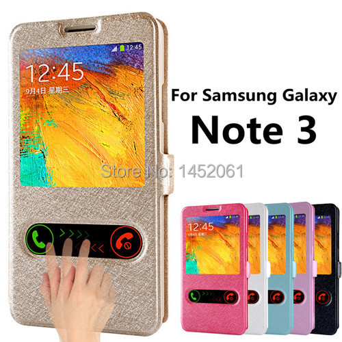 Luxury Flip Cover Case For Samsung Galaxy Note 3 Leather Phone Bag With Stand Design Note3 N9000/N9002/N9006/N9008/N9009 Cases(China (Mainland))