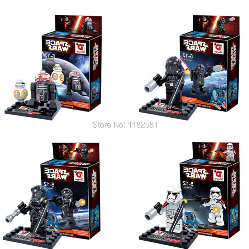 Single Star Wars Minifigures The Force Awakens Building Blocks Action Figures Bricks Toys Compatible Soldier Kylo