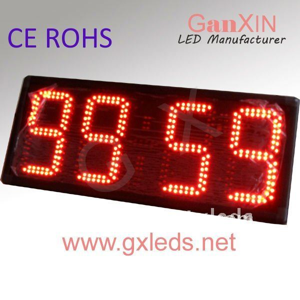 red 12inch 4digital alibaba express led red digital wall countdown timer(China (Mainland))