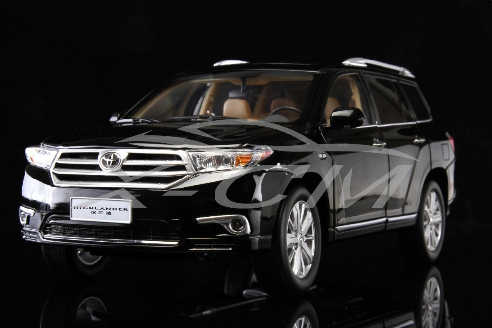 Diecast Car Model Toyota Highlander 2012 1:18 (Black) + SMALL GIFT!!!!!(China (Mainland))