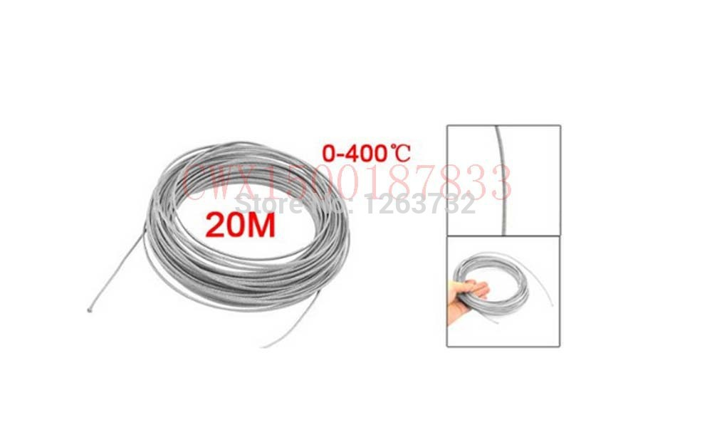 Free Shipping Metal Braided Thermocouple Extension Insulated Cable 66Ft(China (Mainland))