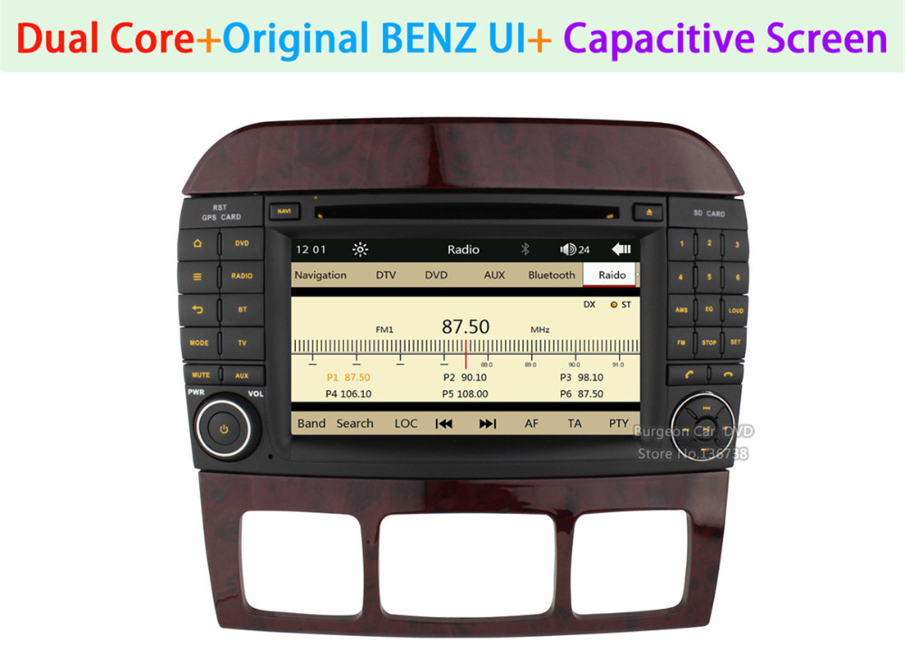 Touch Capacitive Screen Car DVD Player for MERCEDES BENZ S CLClass W220 W215 S550 S600 S350 S400 S280 S320 S65 AMG GPS Radio(China (Mainland))