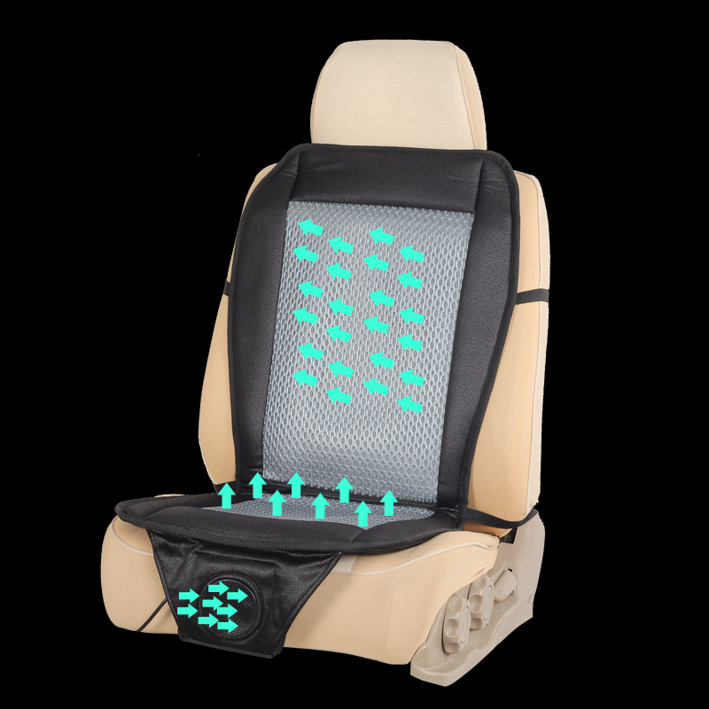 Hair dryer car seat cushion electric fan cushion seat car electric cooling mat 12 v car air cushion summer seat cushion fan car(China (Mainland))