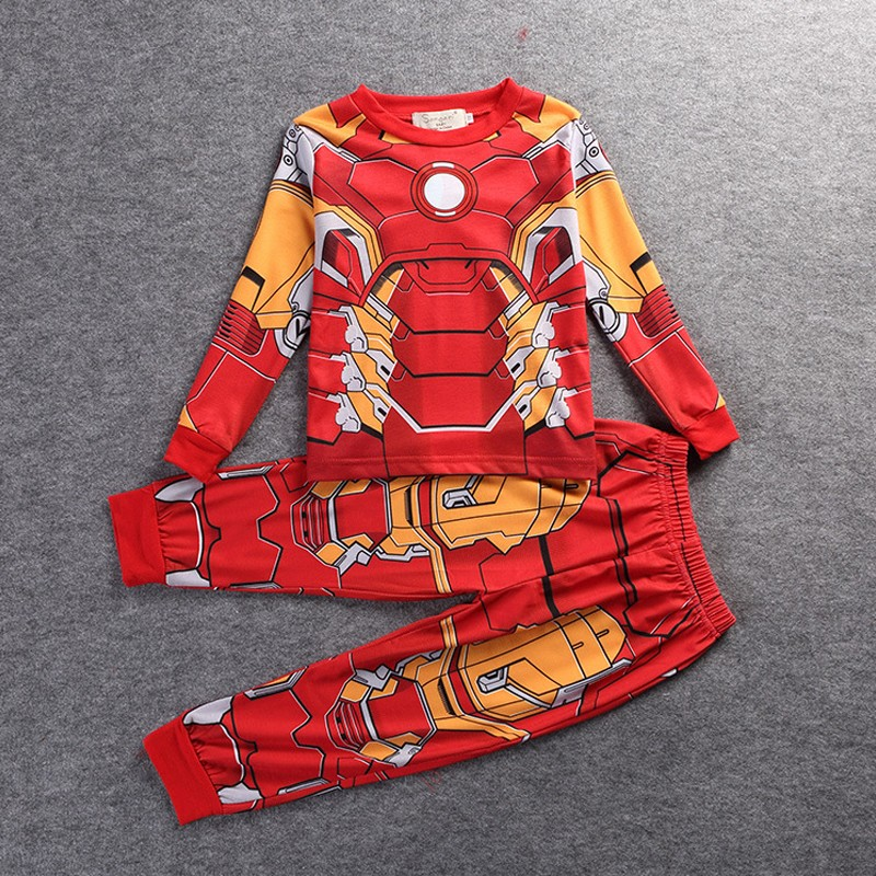 Superhero Kids Cartoon Pajamas Homewear Onesies Star Wars Captain America Spiderman Iron Man Thor Pajamas Shirt