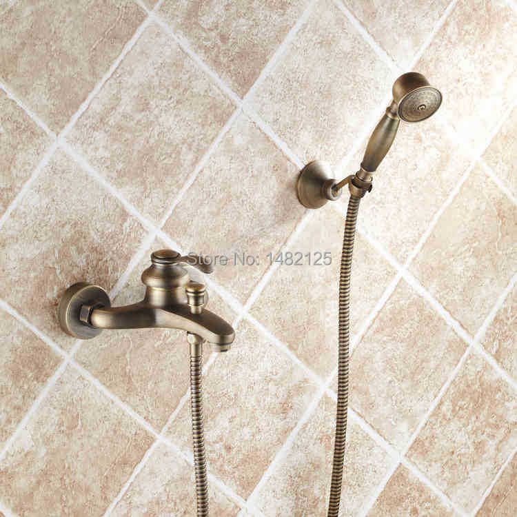 Luxury Antique Brass In Wall Bathtub Faucet (China (Mainland))