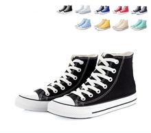В белый синий черный брезент обувь настоящее подлинные все-черные спортивная обувь размер 35 — 45 высокая / низкая # 1