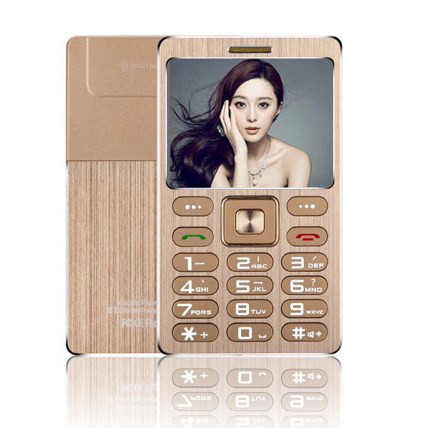 Small Size Metal Shell Card Phone SATREND A10 1.77 Inch TFT Dual SIM Card with Bluetooth Dialer Function 480mAh(China (Mainland))