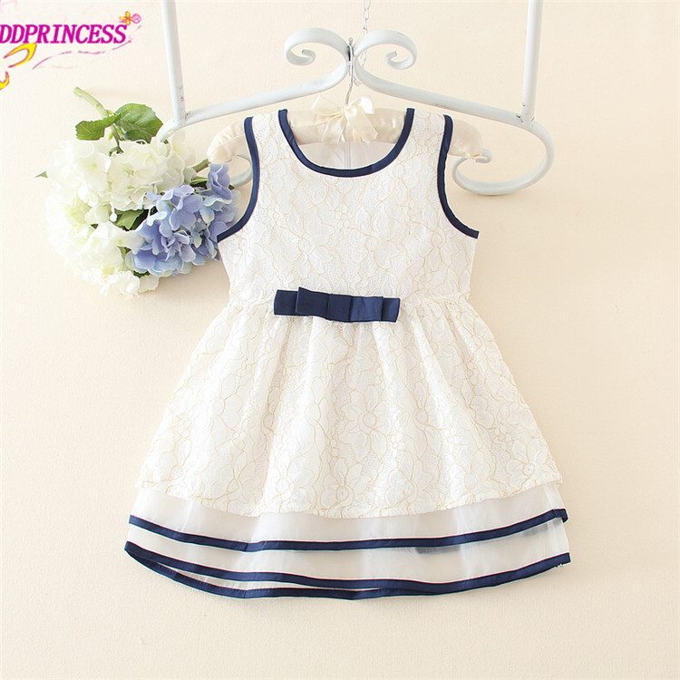 top quality white color lace kids dress party princess dress beautiful summer puffy flower girl dress(China (Mainland))