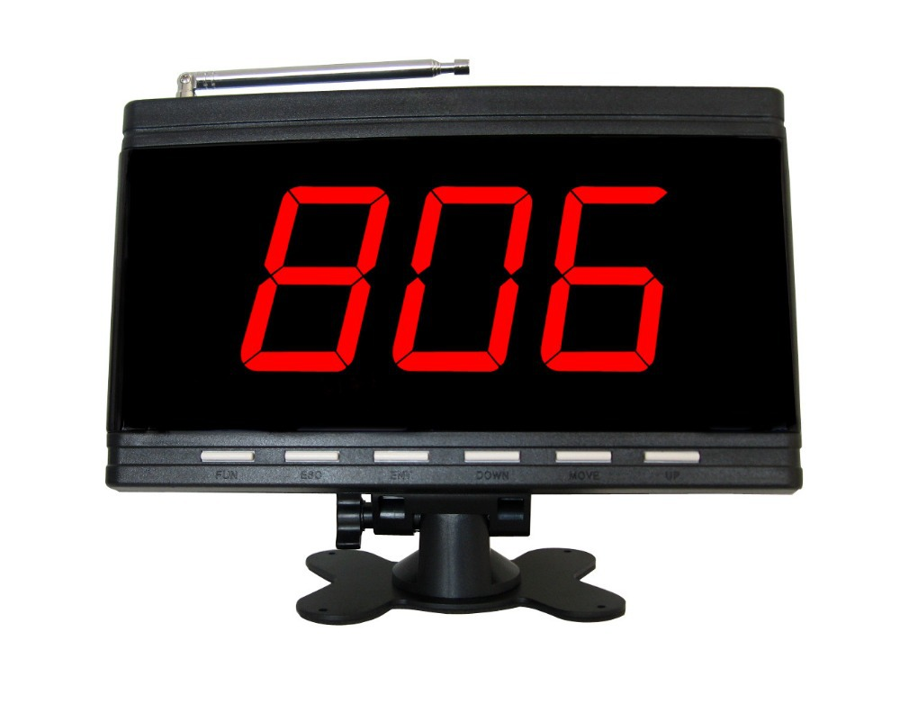 wireless calling system,server paging system for restaurant,coffee shop,office,factory,supermarket.3 digits display receiver(China (Mainland))