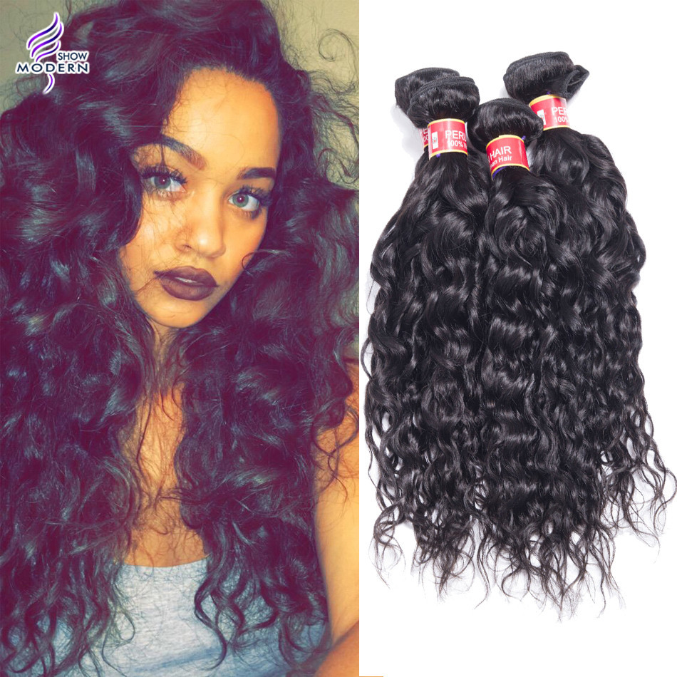 7A Peruvian Curly Virgo Hair 3 Bundles Peruvian Natural Wave Water Wave Hair Virgo Hair Products Wet And Wavy Hair Extensions<br><br>Aliexpress