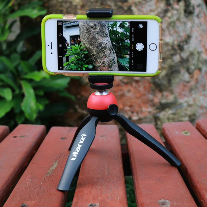 Ulanzi mini Tripod with Holder Mount / Selfie Table Portable Camera Tripod for iPhone Sony Canon Nikon <font><b>DSLR</b></font> <font><b>Samsung</b></font> Mobile Phone