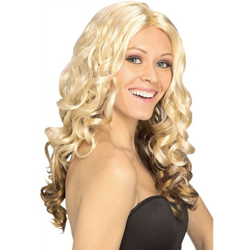 Гаджет  2015 Real Others Natural Wave Dilameng Europe New Beige Masquerade With Long Hair Wig Fashion 0144  None Промышленность и бизнес
