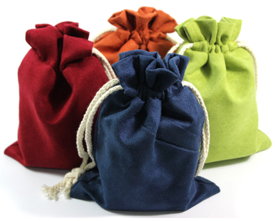 Thick Large Suede Plain Drawstring Storage Bags for Jewelry Pouch 108 Buddha Beads Necklace Bracelet Trinket Gift Packaging Bag(China (Mainland))