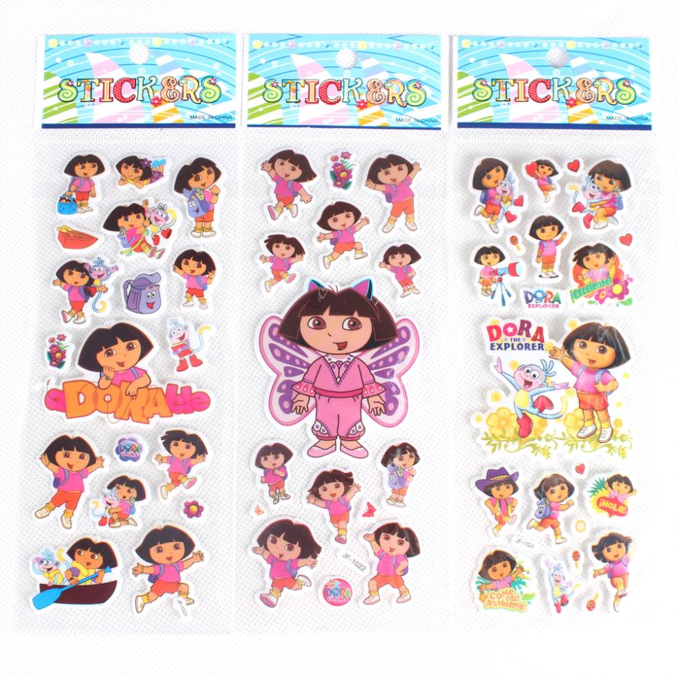 AliExpress.com Product - Wholesale 18pcs/Lot Dora the Explorer Christmas PVC Puffy Stickers Sheet Kids Gift SK044