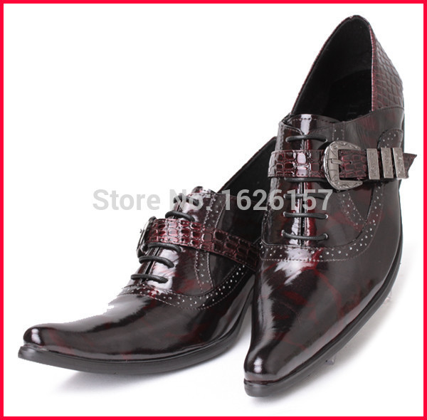 Top Selling Design 2015 Mens Genuine Leather Shoes Brand Mens Italian Dress Shoes Zapatos Mujer Oxford Wine Red Black 39-46<br><br>Aliexpress