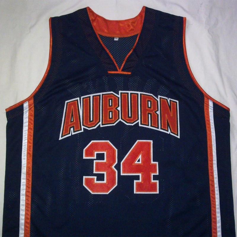 CHARLES BARKLEY Auburn University Navy Black Basketball Jersey Embroidery Stitched Customize any size and name(China (Mainland))