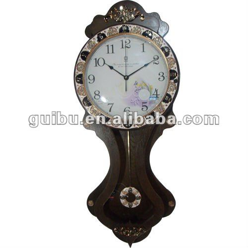Old Grandfather Model Antique Wooden Wall Clock Pendulum Clock for Living Room Decor(China (Mainland))