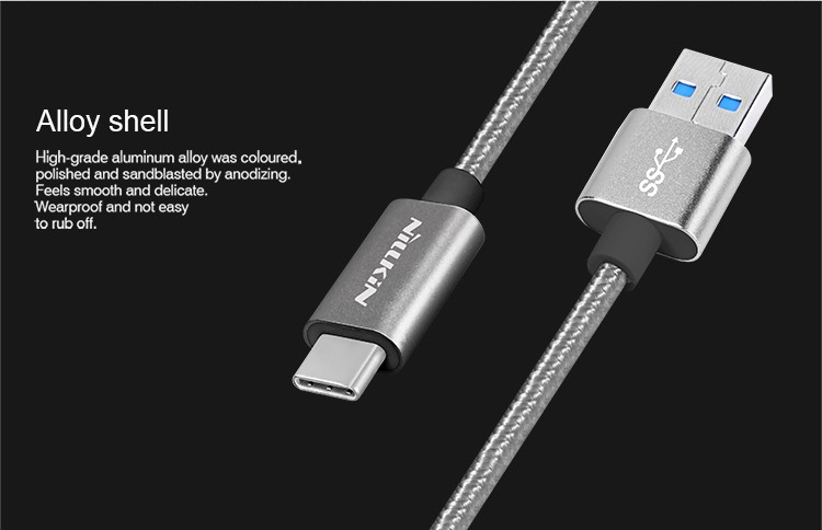 NEW Nillkin universal USB Type C Cable Nylon cable USB3.0 Type-C for Xiaomi mi5 meizu pro6 huawei p9 LG G5 quick charge cable