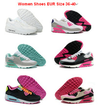 Top quality 90 shoes woman's casual sports sneakers zapatillas de mujer girls trainers zapatos womens pink white sportswears(China (Mainland))