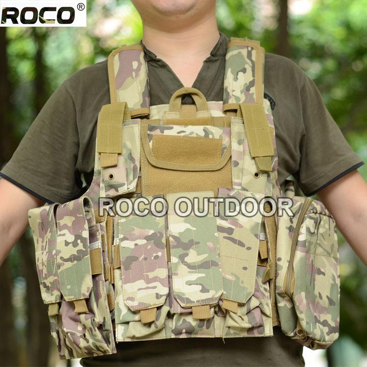 Ciras Mar Tactical Vest Assault Vest CS Marine Tactical Vest 800D Nylon Molle Combat Strike Plate Carrier W/Mag Pouches