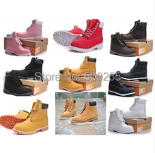 Winter warm snow boots brand men women genuine leather waterproof outdoor boots cow leather hiking shoes Leisure Martin boots(China (Mainland))