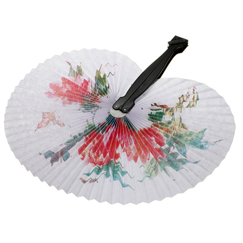 Fashion 1pc Chinese Paper Folding Hand Fan Oriental Floral Fancy Party Wedding Favors Gifts Craft(China (Mainland))