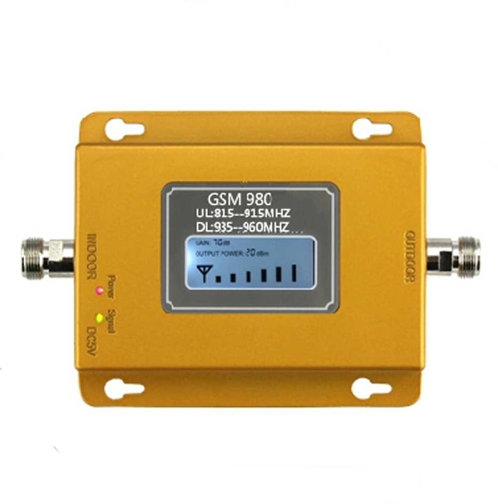 2016 GSM signal repeater GSM signal booster 20dbm LCD display cell phone signal booster amplifier(China (Mainland))