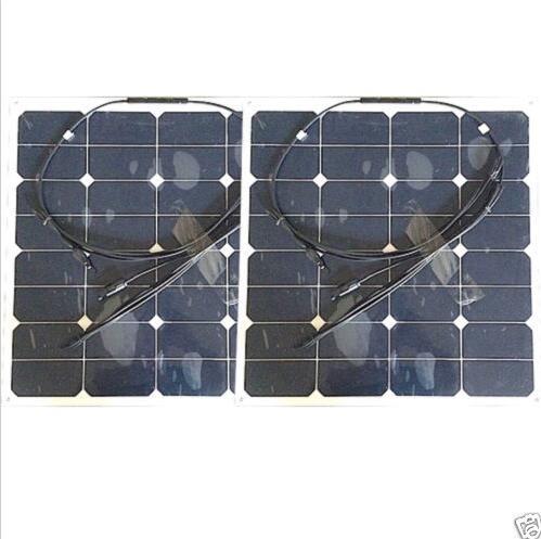 2pcs frameless 50w semi flexible solar panel for boat,thin film light weight solar panels(China (Mainland))