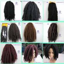 FREE SHIPPING 1pack/lot 20″ 100g marley braid hair extensions afro kinky synthetic marley braiding hair 1#, 1b#, 2#, 4#, 30# etc