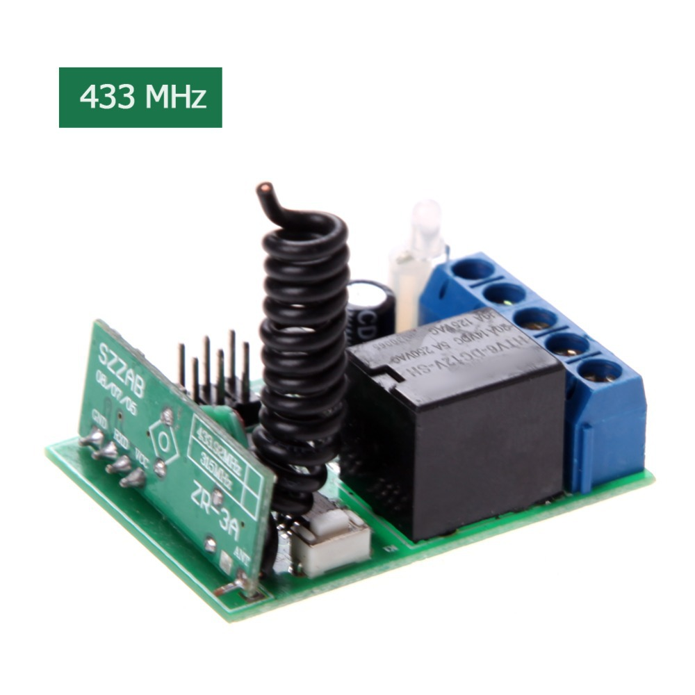 Гаджет  Practical DC 12V 433MHZ Relay Wireless remote Switch Controller for Entrance Guard System interruptor None Электротехническое оборудование и материалы