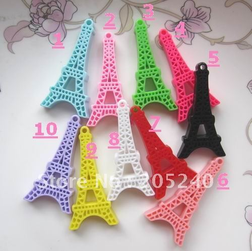 flat back resin eiffel tower 30pcs mixed 10colors (you can choose the color you like or we will ship each color equally)