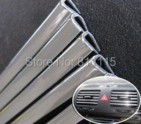Хромовые накладки для авто Original 200CM Car Trim, Chromium Styling for Toyota, VW, Car air conditioning vent ABS Decoration Trims, chrome bright