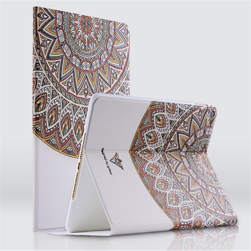Personality 3D relief painting leather cover for ipad mini 4 tablet case with sleep fuction(China (Mainland))