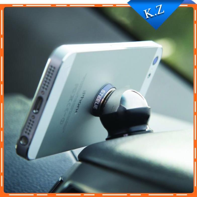 Magnetic 360 degrees holder for Mobile phone/Pad/ GPS car phone Stands holder Steelie Car Kit phone Mount Holder(China (Mainland))