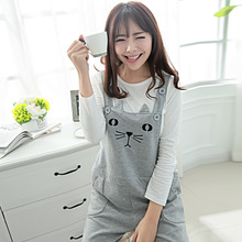 Women Pregnant Maternity Casual Cat Style Cotton Pants Suspender Overalls Bib Trouser(China (Mainland))