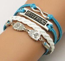 Promotions Vintage Braided Anchors Rudder Metal Leather Bracelet Multilayer Rope Bracelets Wrap Bracelets Bangle(China)