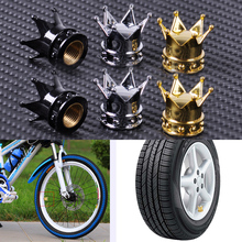 2pcs New ABS Cover & Copper Core Crown Tyre Tire Wheel Valve Stems Air Dust Cover Cap Fit for Bike Motorcycle Bicycles Cars(China (Mainland))