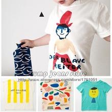 2016 New Bobo Choses enfants t - shirt pour garçons filles Tops Tee bébé t shirt enfants vêtements tout-petits Mini Rodini printemps été(China (Mainland))
