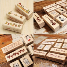 stamps for scrapbooking Blessing Wood Stamps I love you Happy Birthday Thank you Stamp Gift Scrapbooking Free shipping