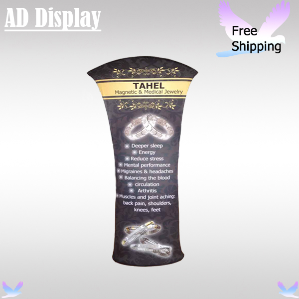 85*200cm Durable Popular Tension Fabric Flex Stand With Double Side Banner Printing,Trade Show Booth Advertising Display Exhibit(China (Mainland))