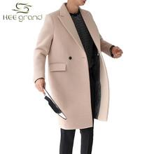 Men Cashmere Coat 2015 Hot Sale Autumn Winter Trench Long Jacket Turn-Down Collar Casual Jaqueta Masculino M-XXL 2 Colors MWN127(China (Mainland))