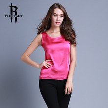 Womens Summer Silk Tank Tops Ladies Blouses Mesh Cute Sleeveless Solid Color O Neck Casual Debardeur T Shirt Vest Tops Canotta(China (Mainland))