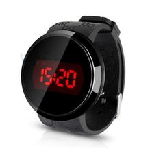 Hot Marketing 2015 Fashion Waterproof Men LED Touch Screen Day Date Silicone Wrist Watch Black N4
